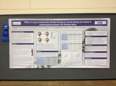 Dr. Boggild's poster, outlining the details of her research findings.