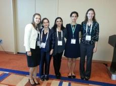Our team at ASBMR 2013. From left: Dr. Marta Erlandson, Dr. Olga Gajic-Veljanoski, Dr. Nisha Nigil Haroon, Dr. Maryam S Hamidi, and Dr. Miranda Boggild.